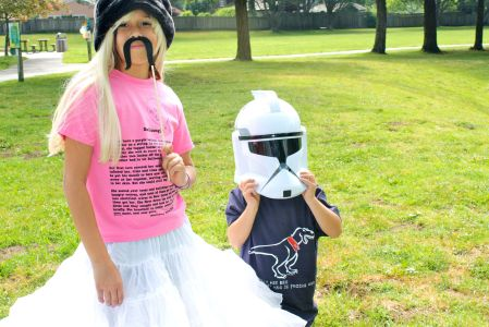 kids wearing geeky t-shirts from Tees For Your Head